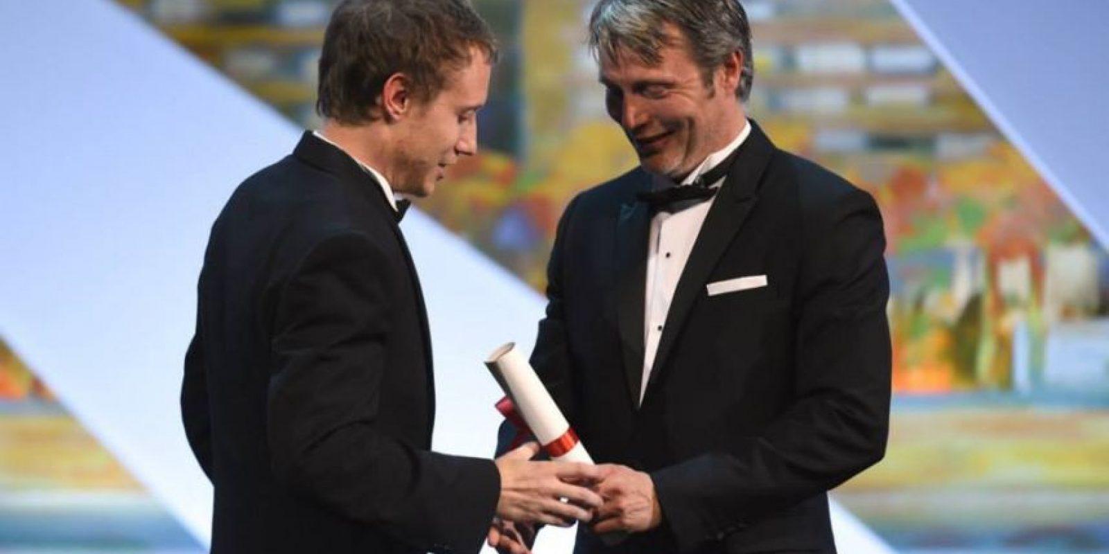 """El director húngaro László Nemes ganó el Premio del jurado por """"Saul fia"""" (""""Son of Saul"""") Foto:vía facebook.com/Festival-de-Cannes-Page-Officielle"""