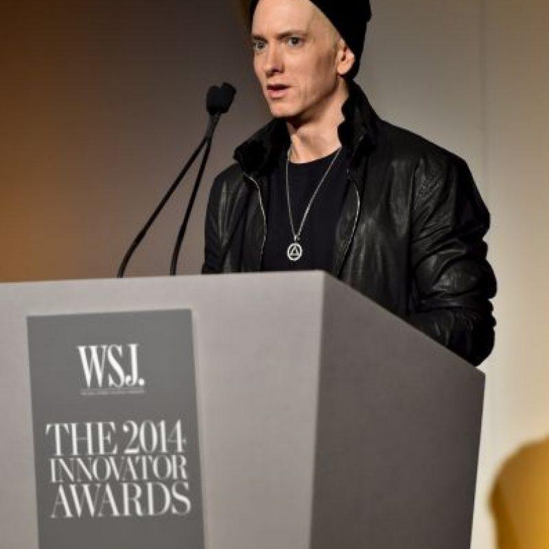 """Fue con su canción """"Rap God"""" entró al libro Récord Guinness, por incluir mil 560 palabras en la canción Foto:Getty Images"""