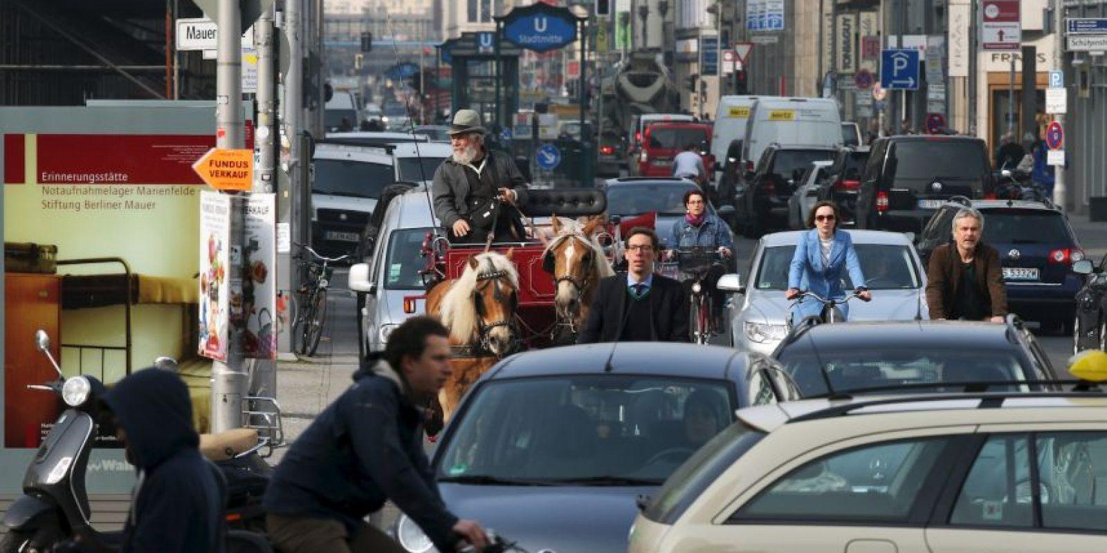 La novia se encontraba detenida en el tráfico. Foto:Getty Images