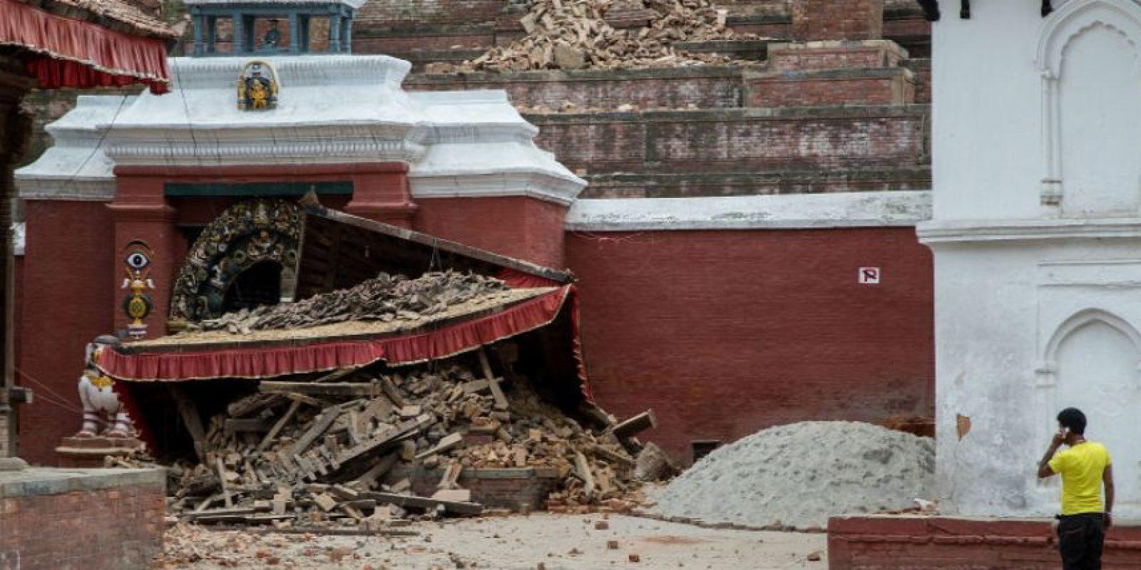Varios edificios históricos están en el suelo Foto:Getty Images