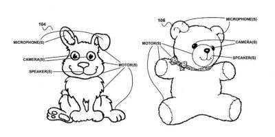 Este es el boceto de los juguetes inteligentes de Google que fue publicado. Foto:United States Patent and Trademark Office