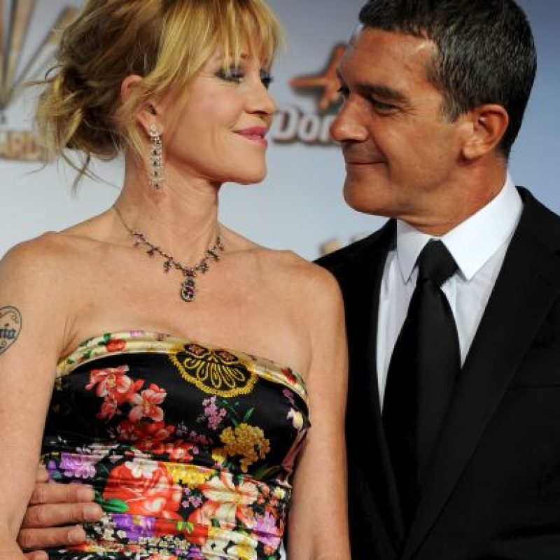 Se casó con la actriz estadounidense Melanie Griffith Foto:Getty Images