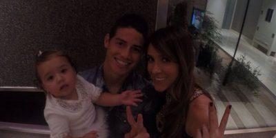 James, su esposa Daniela y su hija Salomé Foto:Instagram