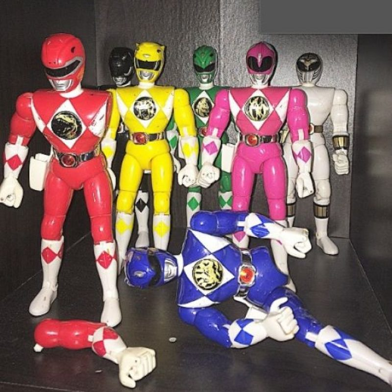 """6.- Las figuras de acción de los """"Power Rangers"""" Foto:vía Instagram"""