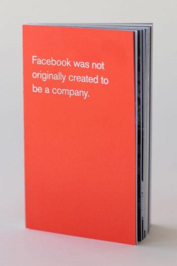 Facebook no fue creada originalmente para ser una compañía. Foto:officeofbenbarry.com