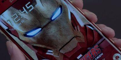 """El smartphone edición de """"Iron Man"""" fue lanzado de forma oficial. Foto:Samsung"""