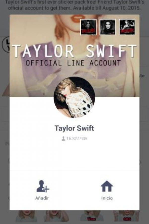 Deberán agregar a Taylor como su amiga y podrán descargarlos. Foto:LINE