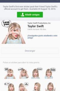 Ingresen a la tienda de stickers en LINE y encontrar los de la cantante. Foto:LINE