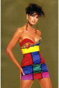 Linda Evangelista. Foto:vía Versace