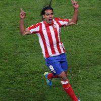 En la final de la Europa League 2011-2012, Falcao anotó un doblete en el triunfo del Atlético 3-0 sobre el Athletic de Bilbao. Foto:Getty Images