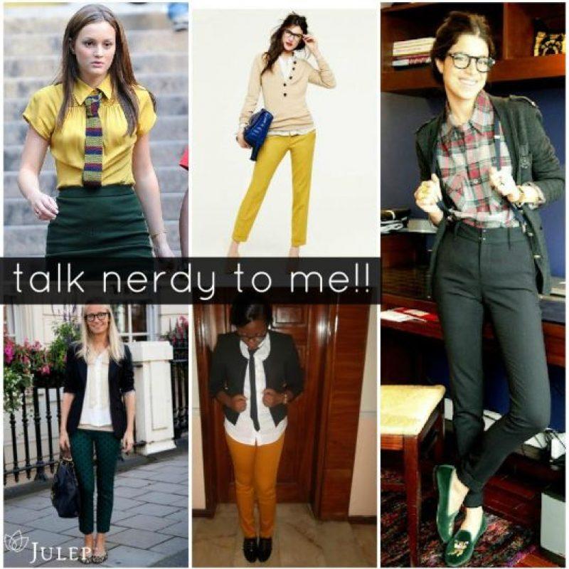 """Vestirse como un """"nerd"""" también es lo de hoy. Foto:vía Pinterest."""