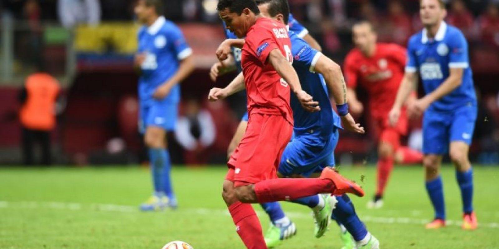 Solo debajo del brasileño Alán y el belga Romelu Lukaku. Foto:AFP