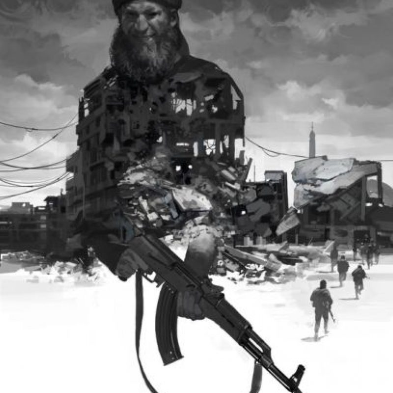 """ISIS"", creado por Faraz Shanyar de Irán. Foto:irancartoon.com"