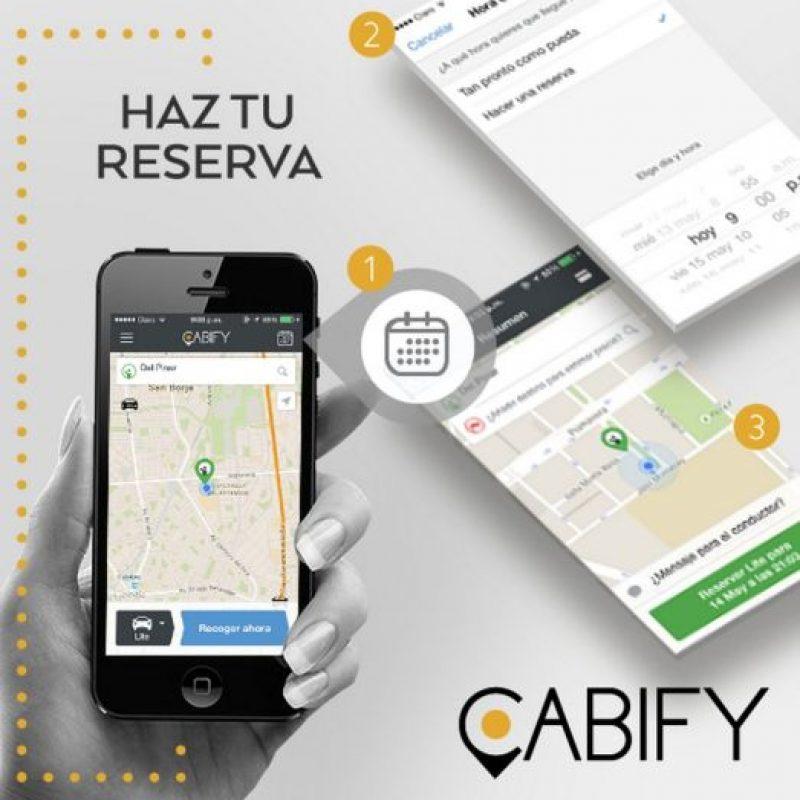 6) Se pueden reservar trayectos para mayor comodidad. Foto:Cabify