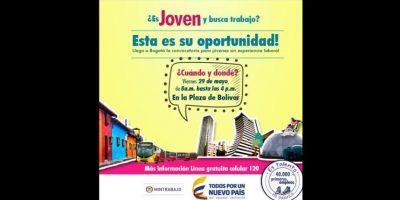 Empleo para jóvenes en Bogotá Foto:MinTrabajo
