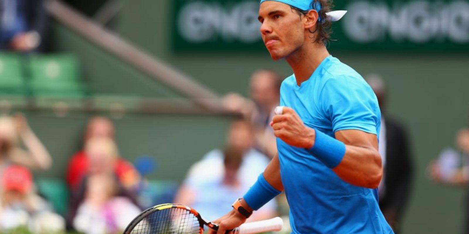 El español Rafael Nadal (6) derrotó al joven francés Quentin Halys por 6-3, 6-3, 6-4. Foto:Getty Images