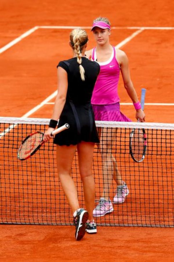Ella fue quien eliminó a la sensación del tenis de mujeres, Eugénie Bouchard (6), en dos sets: 6-4, 6-4. Foto:Getty Images