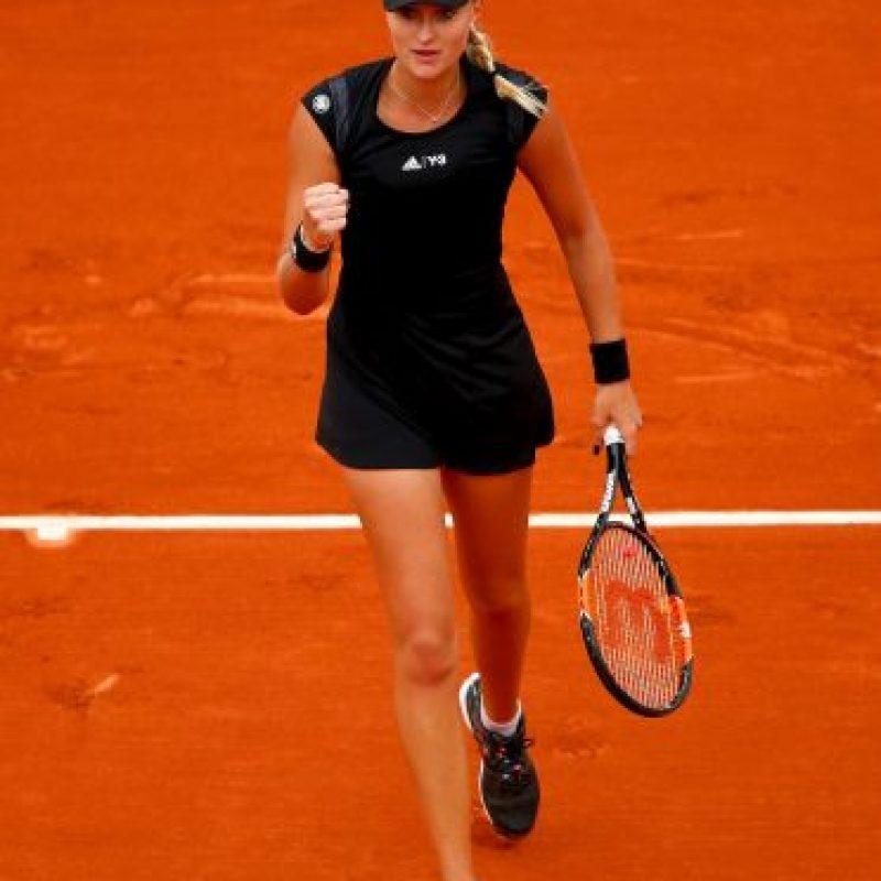 La francesa Kristina Mladenovic dio la sorpresa en la rama femenina. Foto:Getty Images