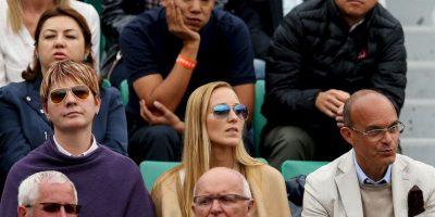 Su esposa, Jelena Djokovic, estuvo apoyándolo desde las gradas. Foto:Getty Images