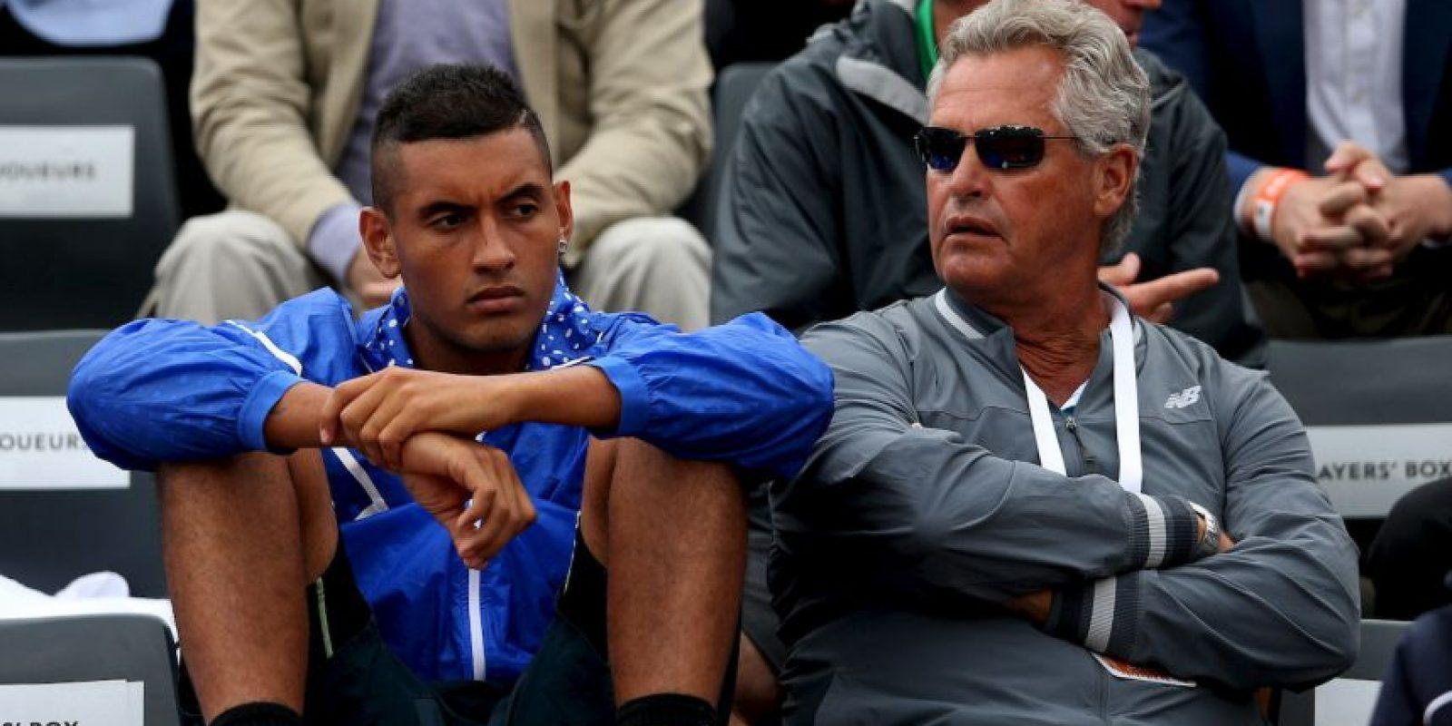 El joven tenista australiano, Nick Kyrgios, que ya está en segunda ronda, acudió a observar este juego. Foto:Getty Images