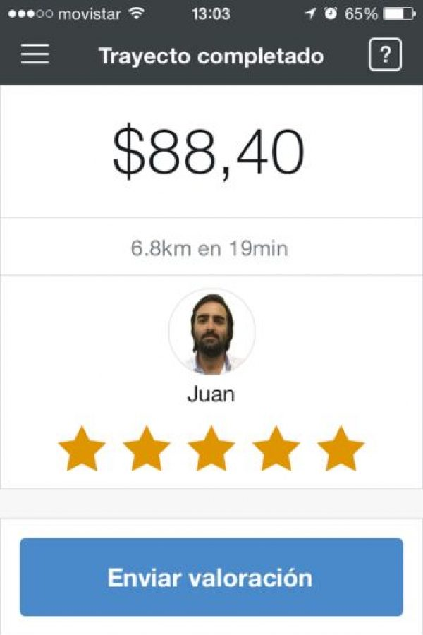 13) Pueden calificar al conductor para que los demás usuarios conozcan su reputación. Foto:Cabify