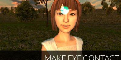 O hacer contacto con los personajes virtuales Foto:FOVE / Kickstarter