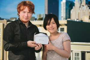 Los creadores Lochlainn Wilson and Yuka Kojima Foto:FOVE / Kickstarter