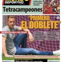 "Mundo Deportivo: ""Siete detenidos por corrupción"". Foto:mundodeportivo.com"