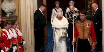 5. Una carroza tirada por caballos la llevó a al palacio de Westminster. Foto:Getty Images