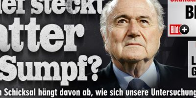Bild (Alemania): ¿Cuánto infecta a Blatter el pantano de la FIFA? Foto:bild.de