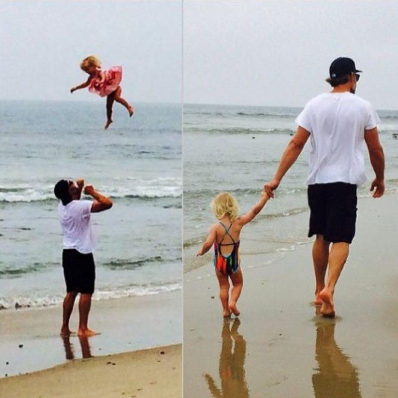 En abril pasado también compartió una foto de su hija Maxwell (dos años) flotando en las alturas. Foto:vía instagram.com/jessicasimpson