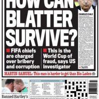 "Daily Mail: ""Cómo podrá Blatter sobrevivir"". Foto:mail.co.uk"