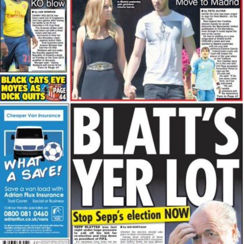 """Daily Star: """"¡Detengan las elecciones de Sepp (Blatter) AHORA!"""" Foto:dailystar.co.uk"""