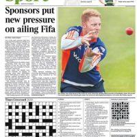 """Times: """"Los patrocinadores ponen más presión sobre la convaleciente FIFA"""". Foto:thetimes.co.uk"""