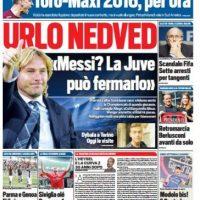 """Tuttosport: """"Escándalo en la FIFA. Siete detenidos por corrupción"""". Foto:tuttosport.com"""