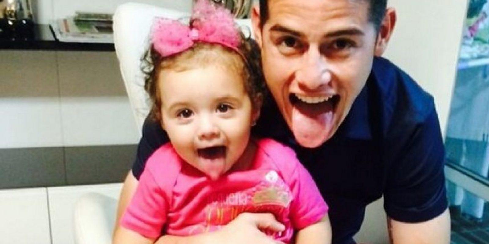 James y su hija Salomé Foto:Instagram