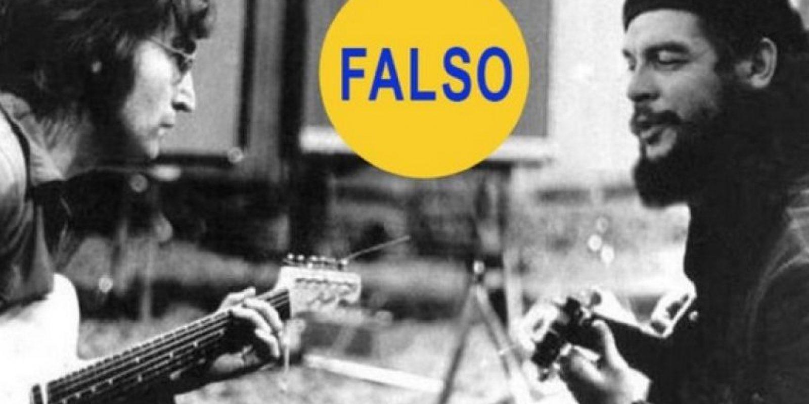 John Lennon y el Che Guevara tocando: Alguien colocó la cara del Che sobre la del guitarrista Wayne 'Tex' Gabriel. Foto:Flickr – Archivo