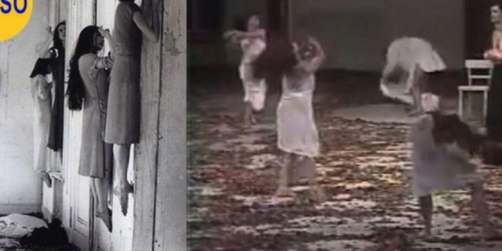 Las mujeres flotantes de un manicomio ruso: La imagen de la izquierda muestra supuestas pacientes de una institución psiquiátrica rusa en 1952. Las mujeres parecen estar flotando como si estuvieran poseídas. En realidad es un montaje con bailarinas de una representación, de 1977, llamada Blaubart Foto:Flickr – Archivo
