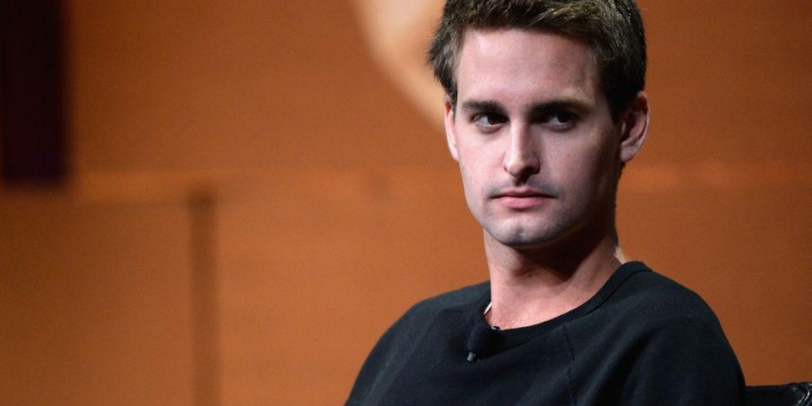 El estadounidense Evan Spiegel, de 24 años de edad, cofundó Snapchat, una app que permite enviar fotos que se autodestruyen en pocos segundos. Foto:Getty Images