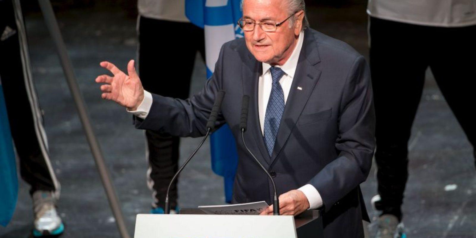 Finalmente, Joseph Blatter fue reelecto como presidente de la FIFA, cargo que ocupará hasta 2019. Foto:Getty Images