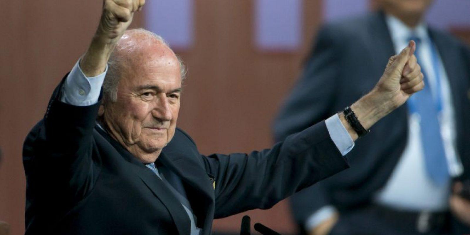 Joseph Blatter fue reelecto presidente de la FIFA. Foto:Getty Images