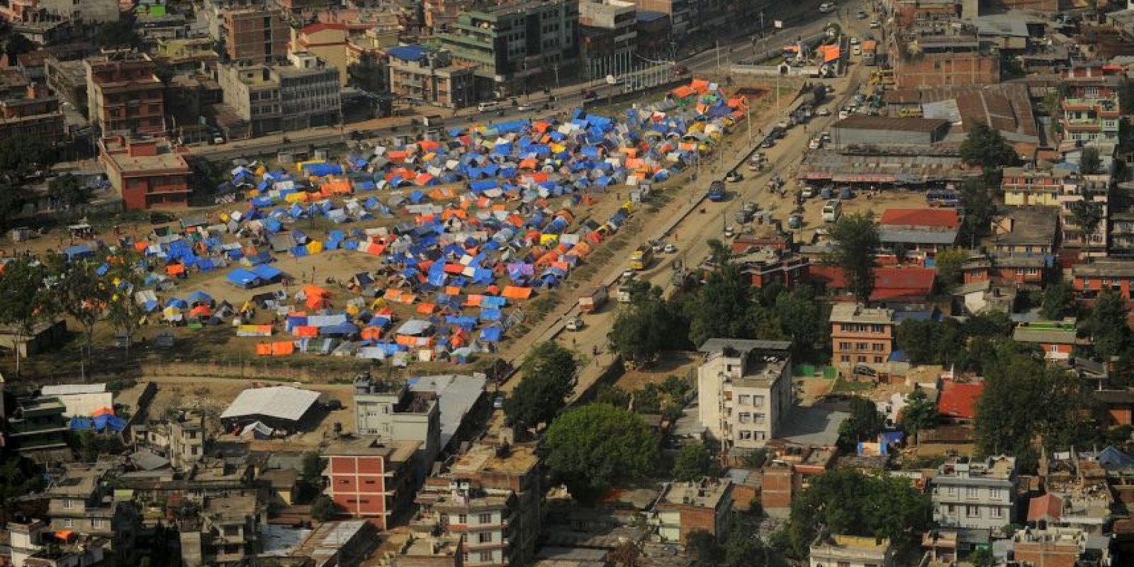 Sobrevivientes de los terremotos en Nepal que se quedaron sin hogar. Foto:AFP