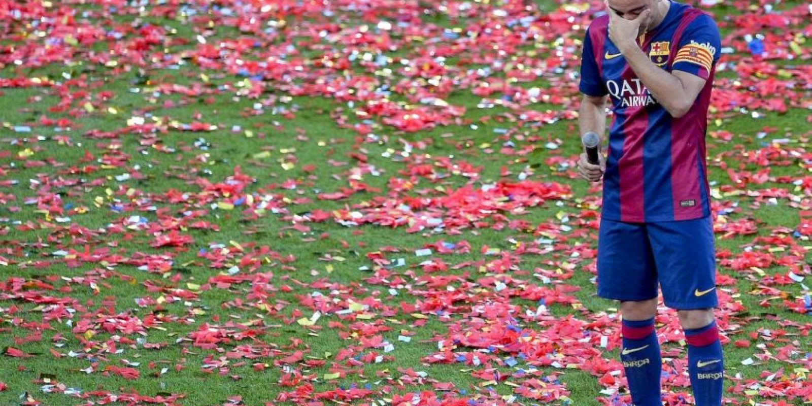 El centrocampista de Barcelona, Xavi Hernández. Foto:AFP