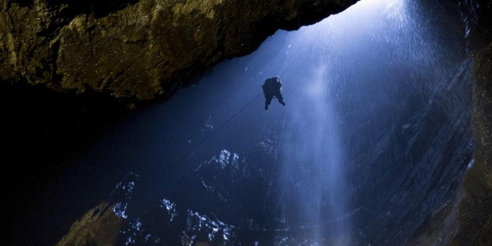 La caverna subterránea más grande en Gran Bretaña. Foto:AFP