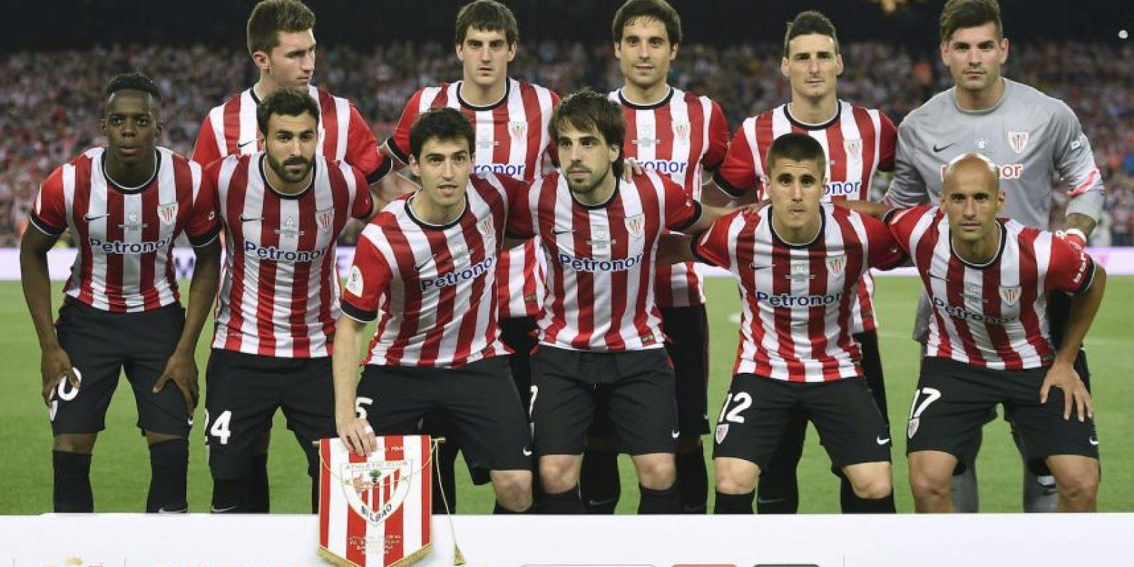Ellos fueron los 11 titulares del Athletic de Bilbao. Foto:AFP
