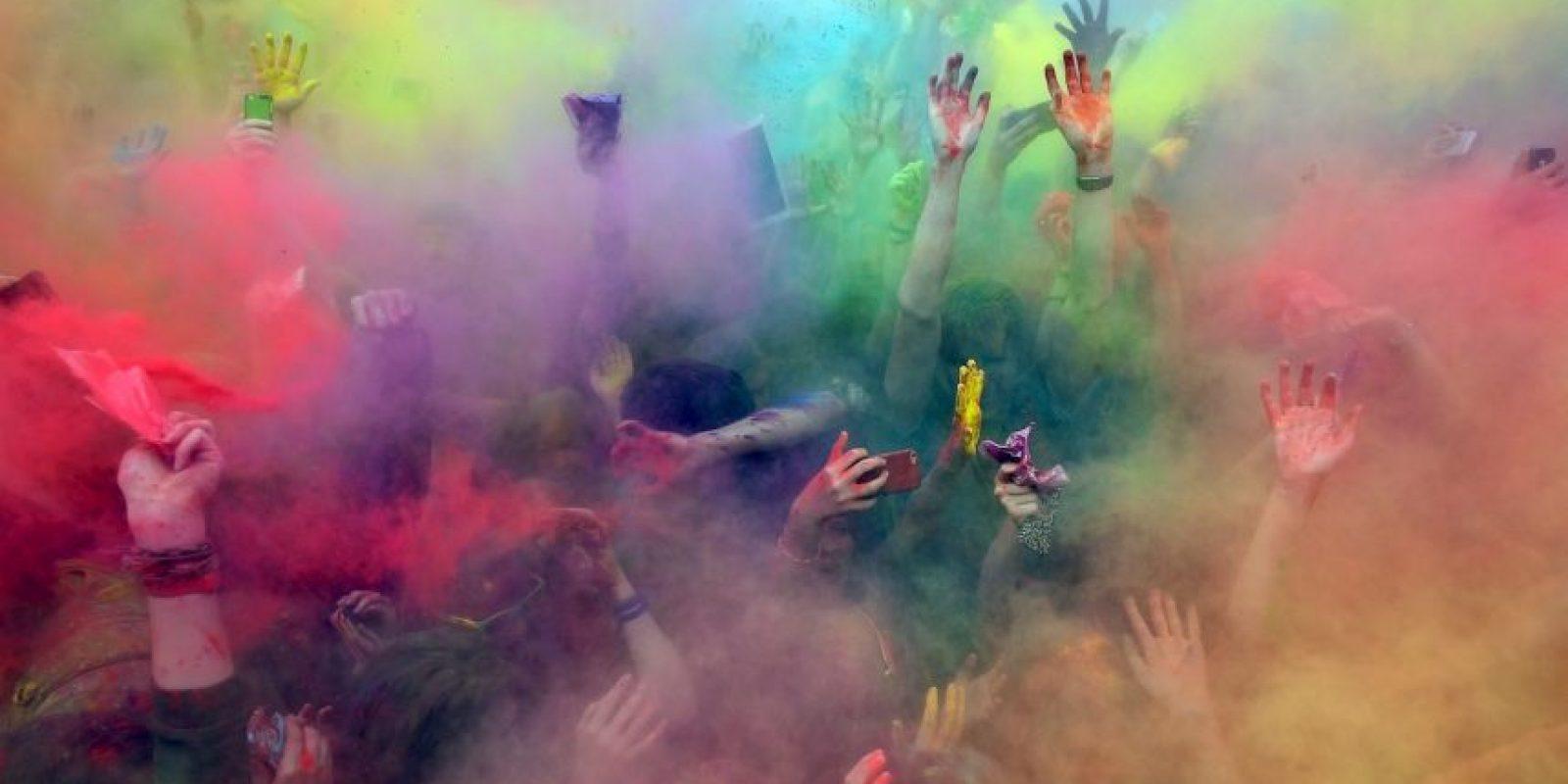 Festival de Colores en Moscú, Rusia Foto:AFP