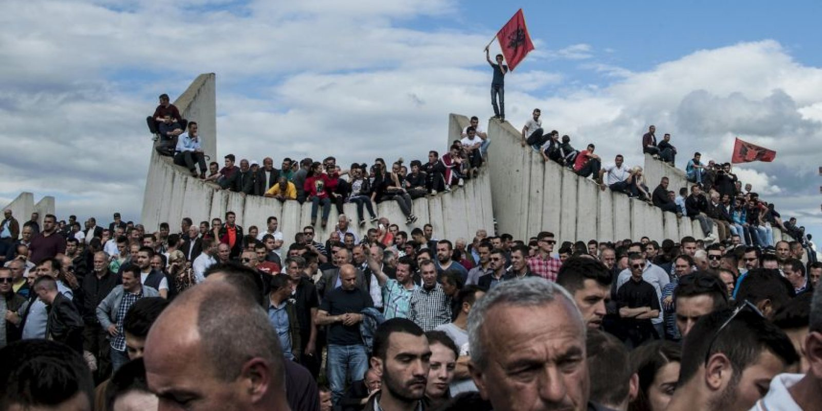 Entierro de albaneses que fallecieron en enfrentamientos con la Policía Foto:AFP