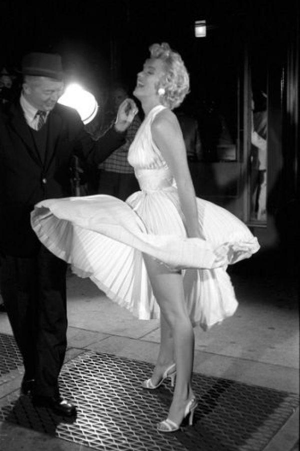 Esta escena fue icónica para Marilyn. Foto:vía Getty Images