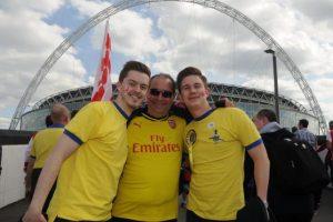 """Los """"Gunners"""" también llegaron a Wembley. Foto:Vía twitter.com/arsenal"""