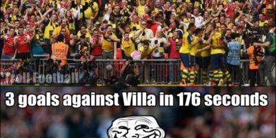 Sadio Mané anotó hace un par de semanas, el hat-trick más rápido de la Premier League en sólo ¡176 segundos! Sí, lo hizo ante el Aston Villa. Foto:Twitter.com/troll__football